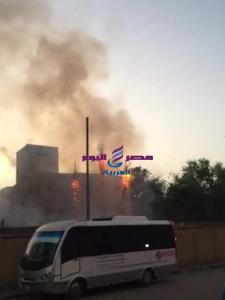 الصحة: السيطرة على حريق مستشفي حميات امبابة بدون اى مصابين
