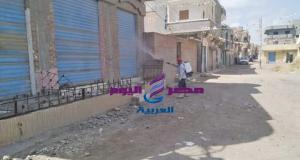 رش وتطهير احدى قرى الغربية عقب دفن متوفاة بكورونا