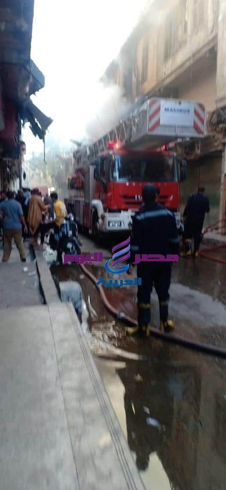 حريق فى شقة تجارية بالموسكى ورجال الحماية المدنية تحاول إخماده | حريق