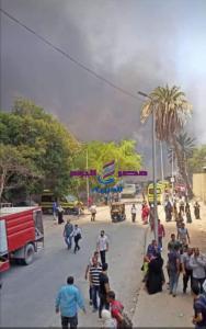 عاجل ضحريق هائل داخل سوق توشكى فى حلوان