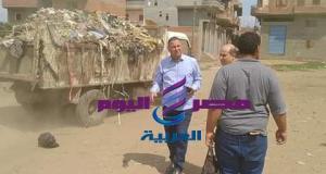 فتحى يوسف يقود حملة نظافة بقرية جماجمون