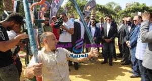 صبحي يتفقد أول جيم اوت دورضمن مبادرة خليك رياضى بمدينة نصر | صبحي