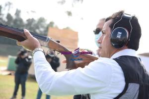 صبحي يتفقد الاستعدادات النهائية بنادي الصيد لاستضافة بطولة العالم للرماية