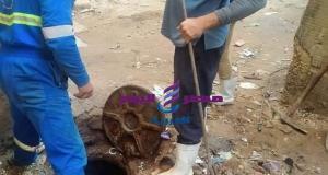 مواصلة أعمال تطهير خطوط الصرف الصحى بنطاق حي ثانِ المنتزه بالأسكندرية | مواصلة