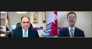 سفير مصر في كندا يلتقي رئيس لجنة الشئون الخارجية والتنمية الدولية بمجلس العموم الكندي   كندا