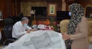محافظ المنيا يعتمد 6 مخططات تفصيلية لمدينة العدوة، ومنطقتين و3 قرى