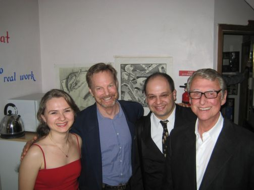 With Bill Irwin, Mike Nichols & Emir Gamsizoglu after my graduation from New Actors Workshop