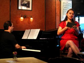 with pianist Emir GAMSIZOGLU, Caffe Vivaldi, West Village