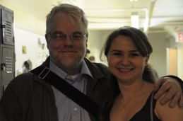 With Philip Seymour Hoffman at New Actors Workshop, 2010