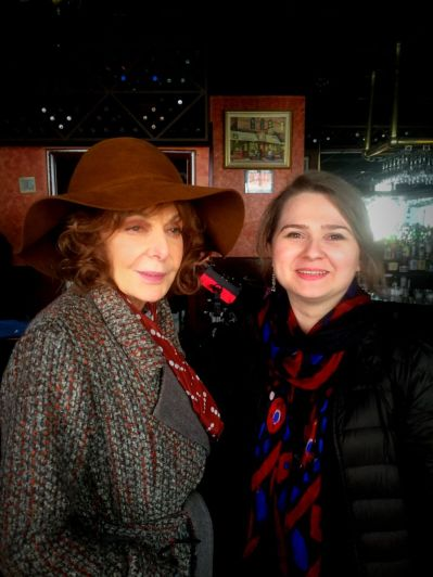 "With Elaine May - On the set of Woody Allen's Amazon Project, New York 2016. May started her career in Compass Players, the first improvisation group in America led by Paul Sills. Later ""Mike and Elaine"" became legends of American comedy."
