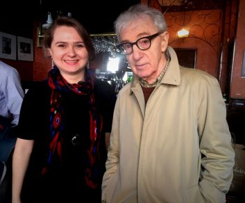 With Woody Allen, New York 2016. After spending a day on the set and seeing how he works, I became a bigger fan of Woody!