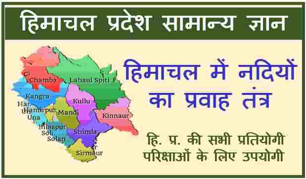 Read more about the article River System of Himachal Pradesh (हिमाचल में नदियों का प्रवाह तंत्र)