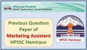 HPSSC Previous Question Paper Marketing Assistant Pdf Download