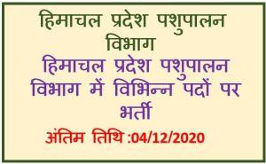HPPSC Shimla Recruitment of Veterinary Officer : Apply Now