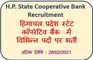 HP State Cooperative Bank Driver Recruitment : Apply Now