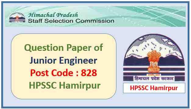 HPSSC Junior Engineer Question Paper 2021