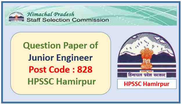 HPSSC Junior Engineer Question Paper 2021