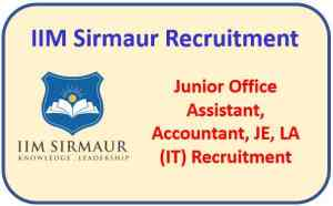 Read more about the article IIM Sirmaur Recruitment 2021 : Apply Now