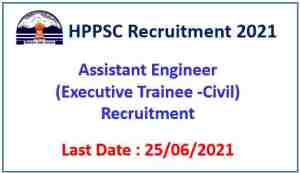 Read more about the article HPPSC Shimla Recruitment 2021 : Apply Online for 26 Assistant Engineer Civil Posts