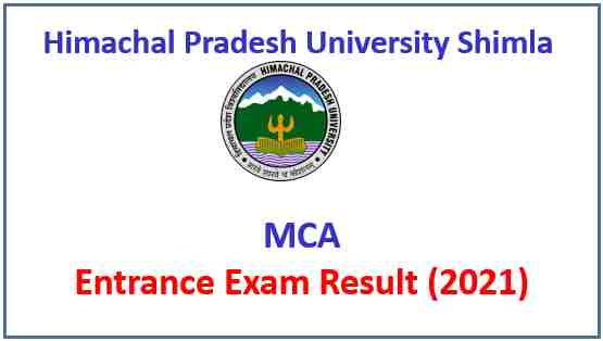 Read more about the article HPU Shimla MCA Entrance Exam Result 2021