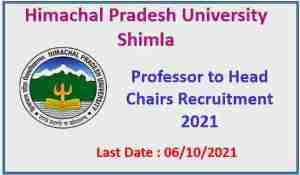 Read more about the article HPU Shimla Professor to Head the Chairs Recruitment 2021