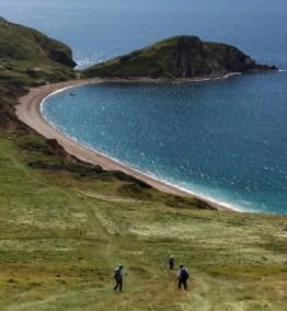 Amblers descend to Worbarrow Bay