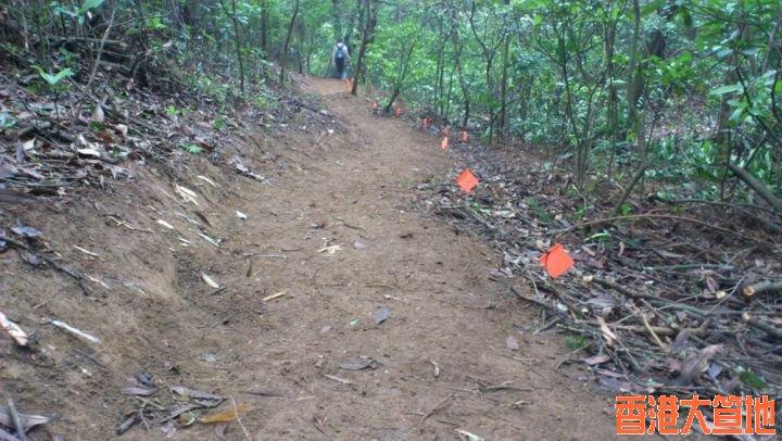 經過一天辛勞,完成了百多米上山路 --  經過一天辛勞,完成了百多米上山路 -- 原來要幾十人掘成日先掘到踩單車幾十秒嘅路程。