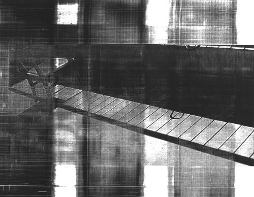 chair I photo on transparence (laser printer) 22 cm x 28 cm Jan 2001