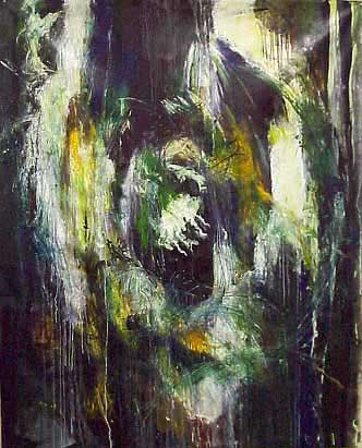Structure I -- Ear Oil on canvas 2000