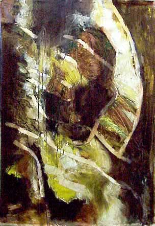 Structure IV -- Ear Oil on canvas 2000