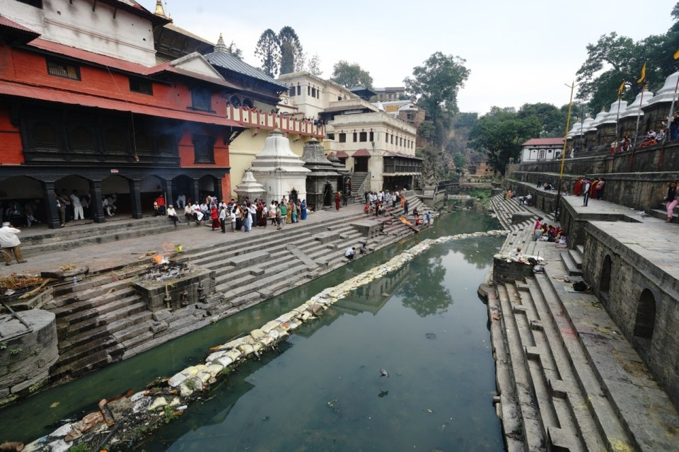 Pashupatinath Temple 火葬場。