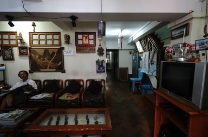 從第一晚投宿的 Chanymaye Guest House 的內部所見,大概知道緬甸現在的政治氣候。