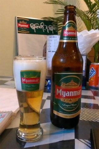 緬甸啤酒。
