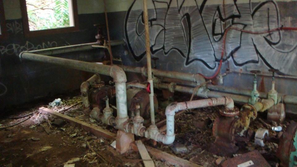 水泵房內部。