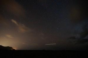 Ka'ena Military Reservation 海豹、海鷗、日落、夜空