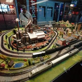 法蘭克福火車總站內的火車模型。