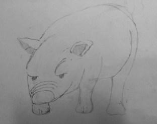 新加入的同學經過反覆繪畫沉悶的立方體練習後,今堂嘗試繪畫物體,純粹以觀察繼而下筆,雖然比例不準,但也畫得不錯。