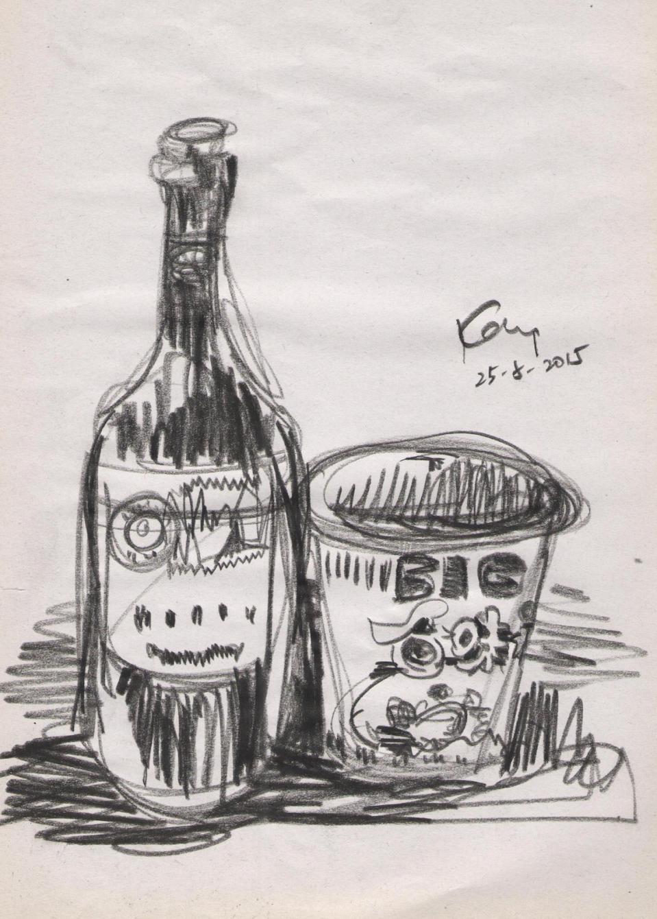 酒樽與杯麵(課堂示範)