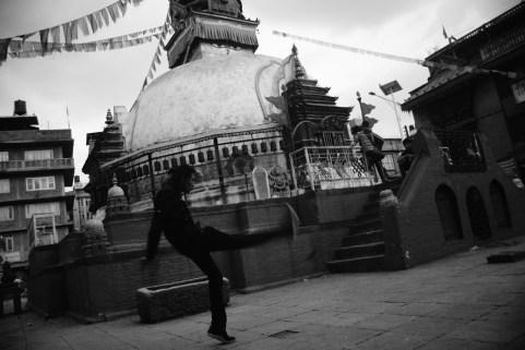 Shri Ghaa monastery 前踢毽少年。