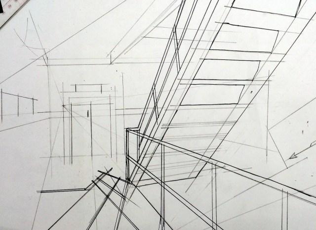 如之前 marker 作品,先以鉛筆及墨水筆起稿。