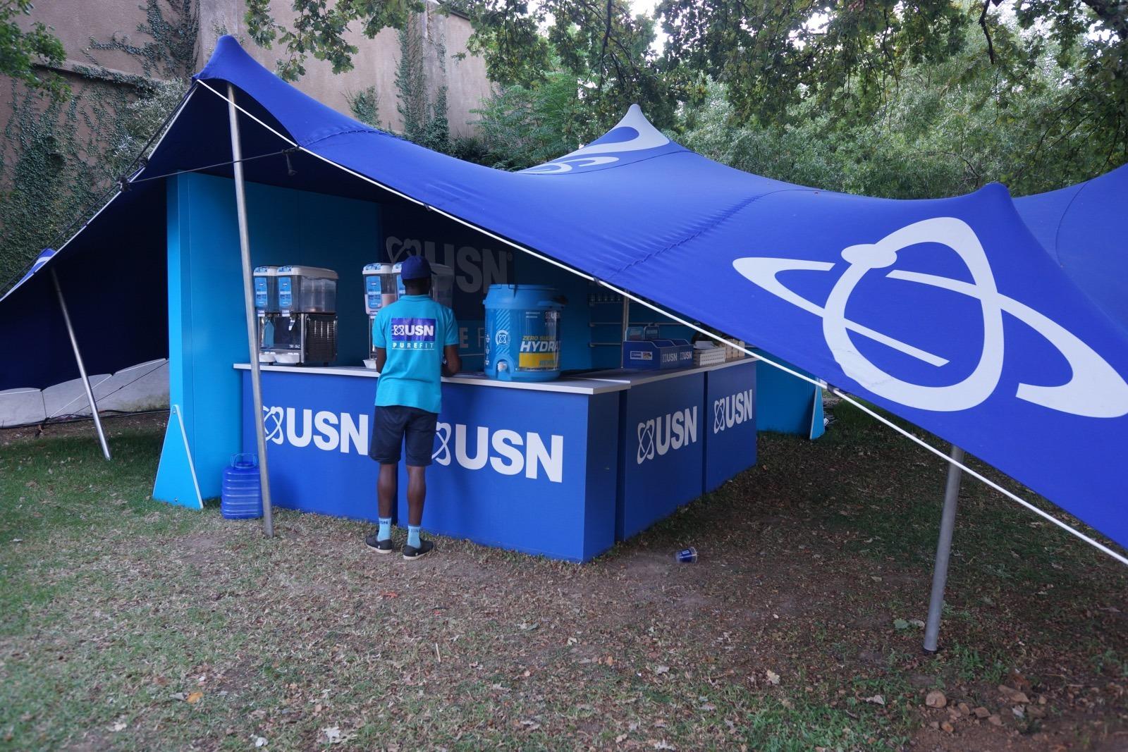 USN -- 大會運動食品贊助。