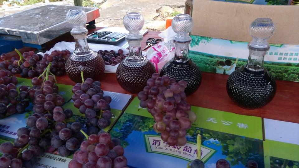 樟市農民釀製的葡萄酒。