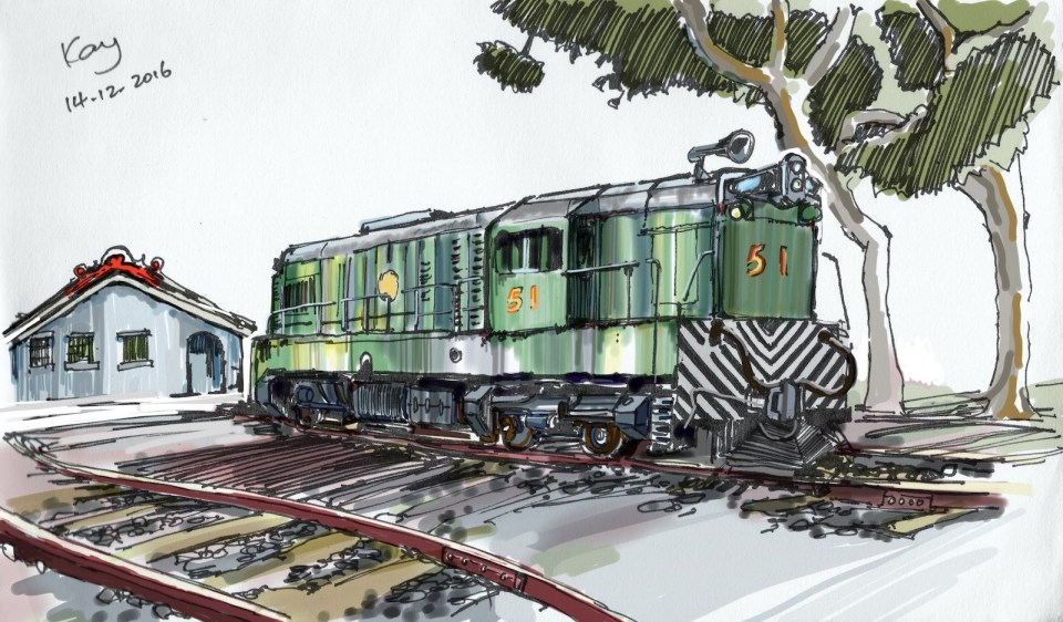 Sir Alexander 51 EMD G12 class locomotive Hong Kong