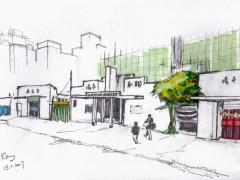 聯和墟街市 Pencils & markers 21cm x 14.8 cm 13-1-2017