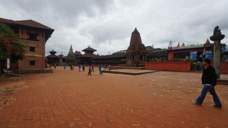 Bhaktapur 的 Durbar Square。