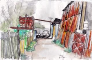 倉庫 2 Color pencils 21cm x 14.8 cm 30-3-2017