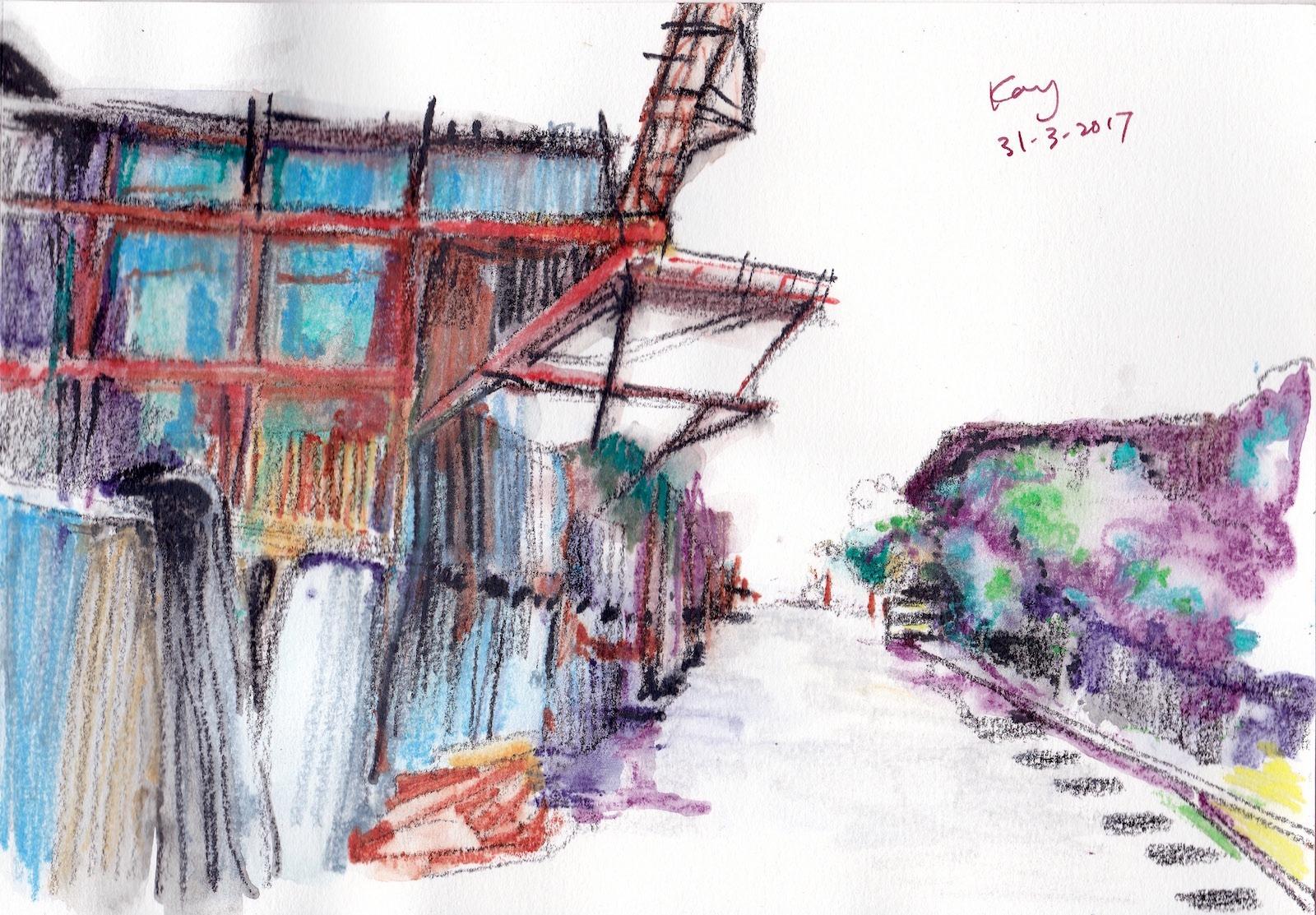 倉庫 3 Color pencils 21cm x 14.8 cm 31-3-2017