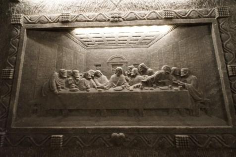 The Chapel of St. Kinga 內著名的《最後晚餐》。