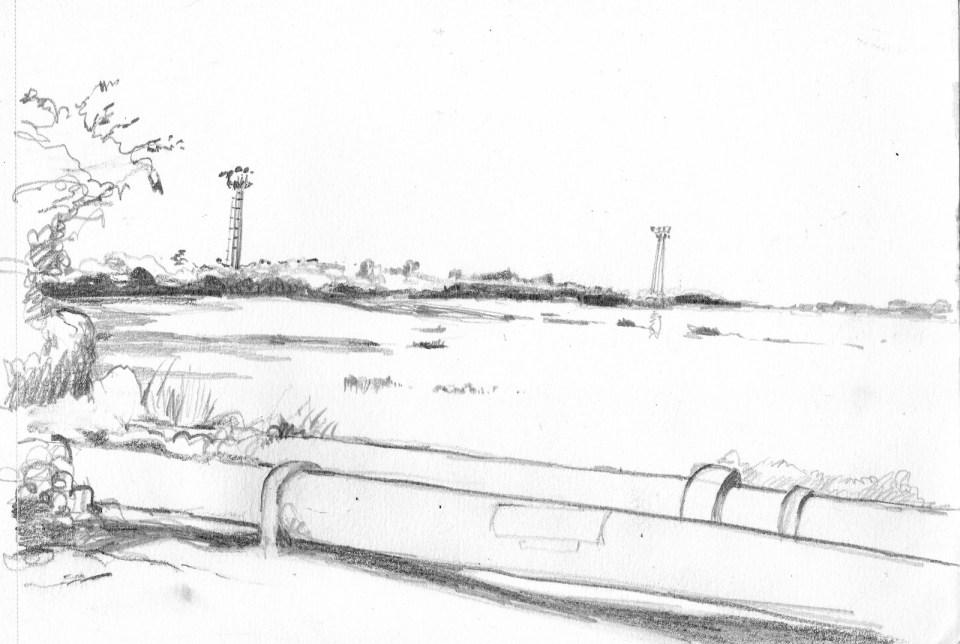 煤灰湖(速寫)鉛筆 21cm x 14.8cm 5-7-2017