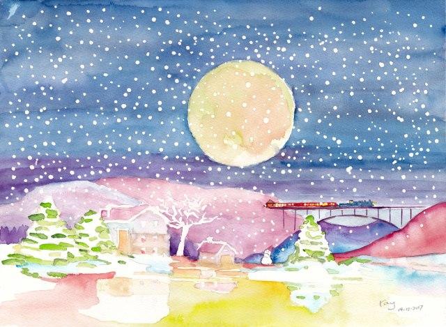 聖誕雪景(課堂示範)